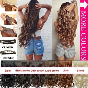 """20"""" CURLY HAIR CLIP IN EXTENSIONS *NWT*"""